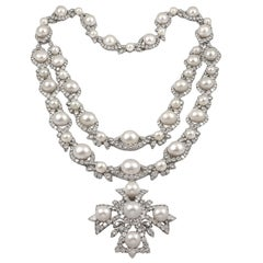 Van Cleef & Arpels Highly Important Diamond Pearl Sautoir