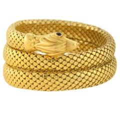 Retro Flexible Wrap-Around Coiled Snake Bracelet 71.1dwt