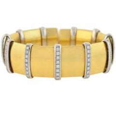 Carlo Weingrill Vintage Diamond Mixed Metals Bracelet
