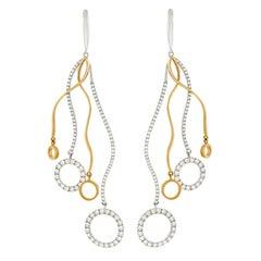 Italian Contempo Design Diamond Earrings