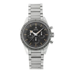Omega Stainless Steel Speedmaster 1957 Broad Arrow Ltd Ed Manual Wristwatch