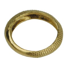 18 ct Gold Rat Tail Band Ring