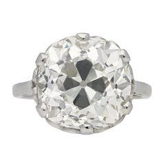 Cushion Shaped Solitaire Old Mine Diamond Ring