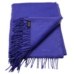 Hermes Indigo Cashmere Fringe Throw Blanket rt. $3,325