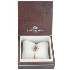 Philip Watch Ladies Gold Plated Vintage Jolie Mode Bracelet Bangle Wristwatch