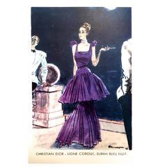 Christian Dior - Vintage Ad Print - Late 1940's