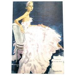 Christian Dior Vintage Ad Print - Late 1940's