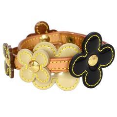 Louis Vuitton Bronze & Black Vernis Fleur Wrap Bracelet/Choker GHW