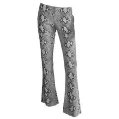 Free Shipping: Iconic Tom Ford Gucci SS 2000 Python Print Suede Runway Pants! 44