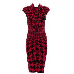 "Alexander McQueen "" The Horn of Plenty Collection "" Houndstooth Dress, Fall 2009"