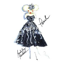 Mouse Couture Sketch by Badgley Mischka