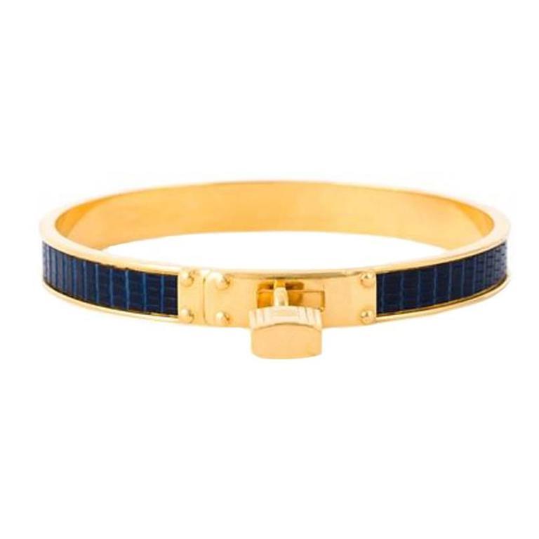 "Gorgeous Hermes ""Kelly"" Bangle Bracelet 1"