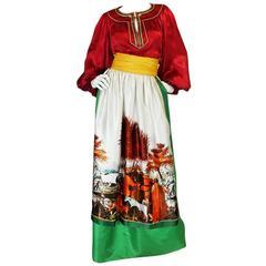 c1977 Brilliant Emanuel Ungaro Haute Couture Skirt & Top