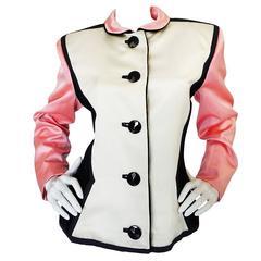 1988 Yves Saint Laurent Pink Color Block Jacket