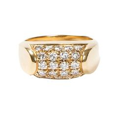 Tronchetto Yellow Gold Paved Diamonds