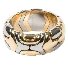 Alveare Ring Yellow Gold/Stainless Steel