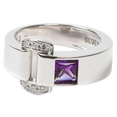 Miss Protocole Ring White Gold Amethyst And Diamonds