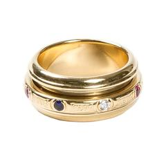 Multicolored Stones Gold Possession Ring