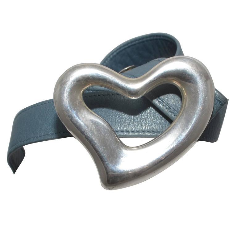 Tiffany & Co Elsa Peretti 1975 Sterling Heart Belt