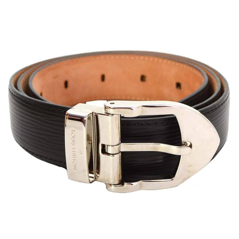 louis vuitton black epi leather belt sz 85 for sale at 1stdibs
