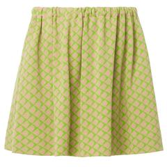 Rudi Gernreich green checked skirt, circa 1965