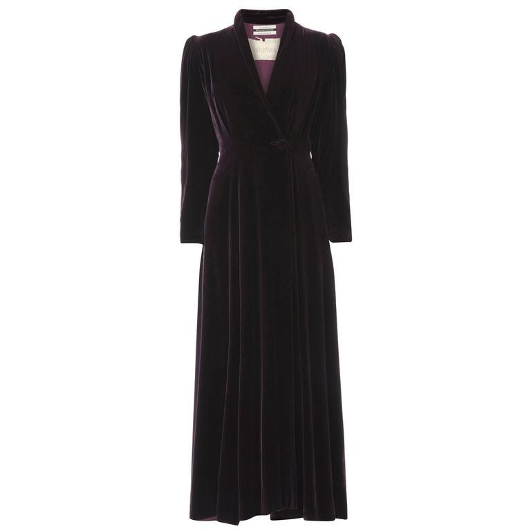 Valentina purple evening coat, circa 1932 1