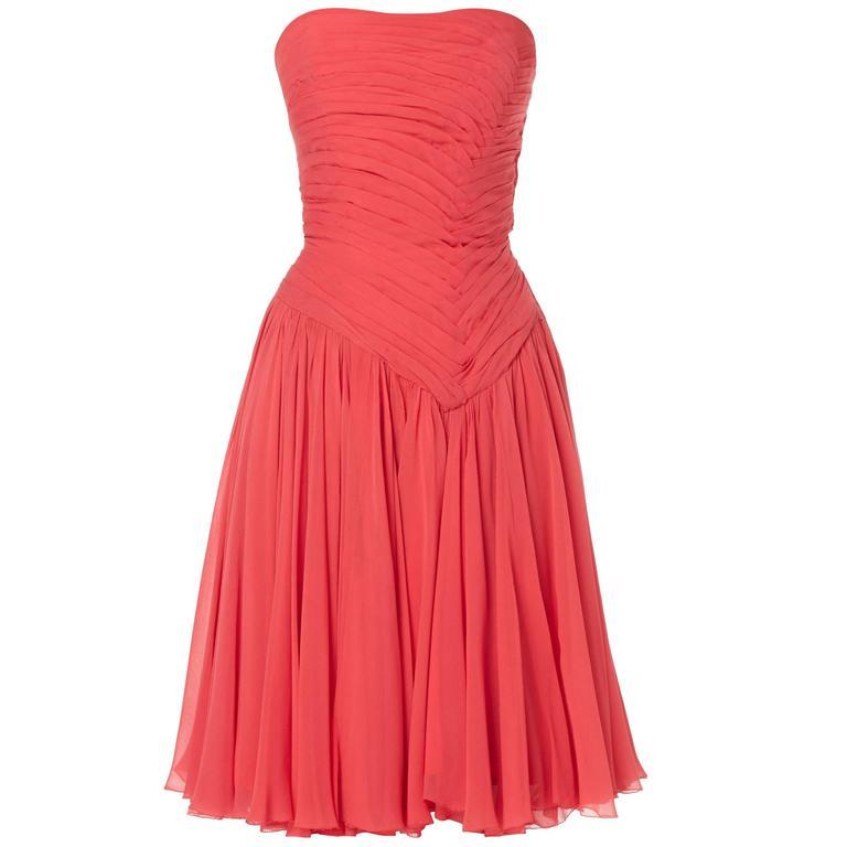 Jean Dessès haute couture pink dress, circa 1965