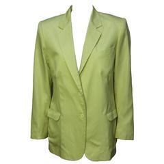 Stephen Sprouse Lemon Yellow Womens Blazer