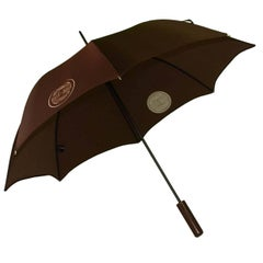Chanel Large Brown & White Umbrella