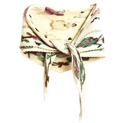 Hermes Pastel Ballerina Pleated Silk Scarf