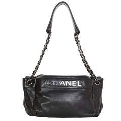 Chanel Black Leather CHANEL Shoulder Bag