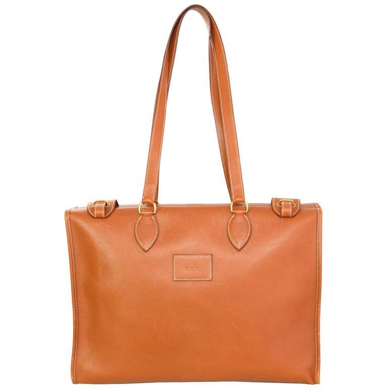 60b8f9b31a77 Hermes Tan Vintage Epsom Leather Tote Bag For Sale at 1stdibs