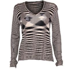 Missoni Black and Cream V neck Jumper