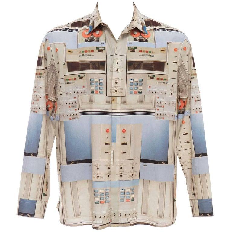 fde51104b4e Riccardo Tisci Givenchy Men s Cotton Print Shirt