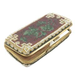 1850-1859s Victorian Microbeads Cigar Holder / Business Cards Holder