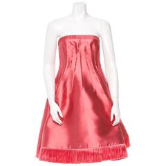 Chado Ralph Rucci Pink Silk Dress