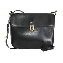 Delvaux black crossbody bag 70s