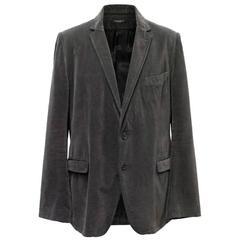 Dolce & Gabbana Mens Charcoal Grey Velvet Blazer