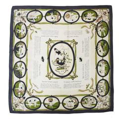 "Rare Hermes ""Les amours"" scarf of 1947"