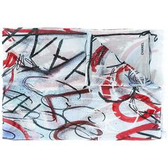 Chanel Scribble Cashmere-Silk Scarf