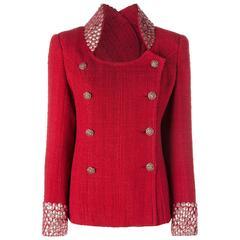 Chanel Studded Tweed Jacket