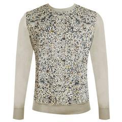 Hermes Sweater Col Ras du Cou Jardin Armenie Silk Sable Color Size XL.