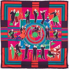 Hermes Silk Scarf 'Original Trocadero Jazz Band' by Sophie Koechlin