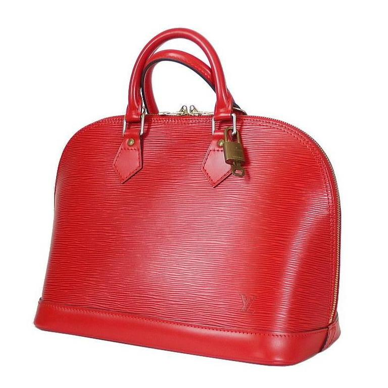 66fd00630f1 Louis Vuitton Red Epi Alma Handbag For Sale at 1stdibs