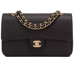 Chanel Black Caviar Medium Classic Double Flap Bag NEW