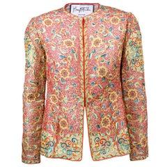 McFadden Tambour Embroidered Silk Evening Jacket