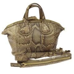 Givenchy Snakeskin Carryall Travel Top Handle Satchel Tote Shoulder Bag