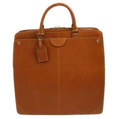 Louis Vuitton Cognac Leather Carryall Men's Women's Travel Top Handle Tote Bag