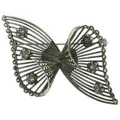 Theodor Fahrner 1920s Sterling Silver Vintage Bow Brooch