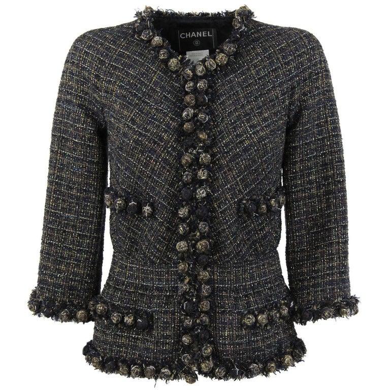 2000s Chanel Multicolor Wool Jacket